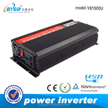 Direct manufacturer 12v to 220v 1500w automobile battery inverter
