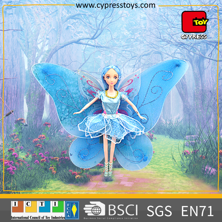 best seller 2017 pretty girls wing princess molds toy vinyl doll for kids
