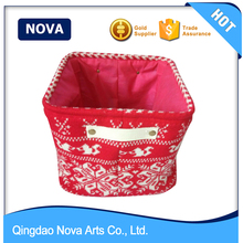 Small square vegetable cotton webbing handle storage baskets