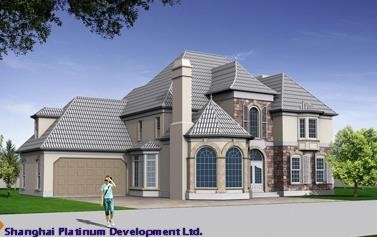 prefabricated modern villa for big family