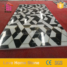 Custom Inlay Natural Stone Floor Design Marble Waterjet Medallion
