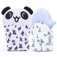 Wholesale Baby Mitt Soothing Teething Glove Silicone Baby Teething Mitten