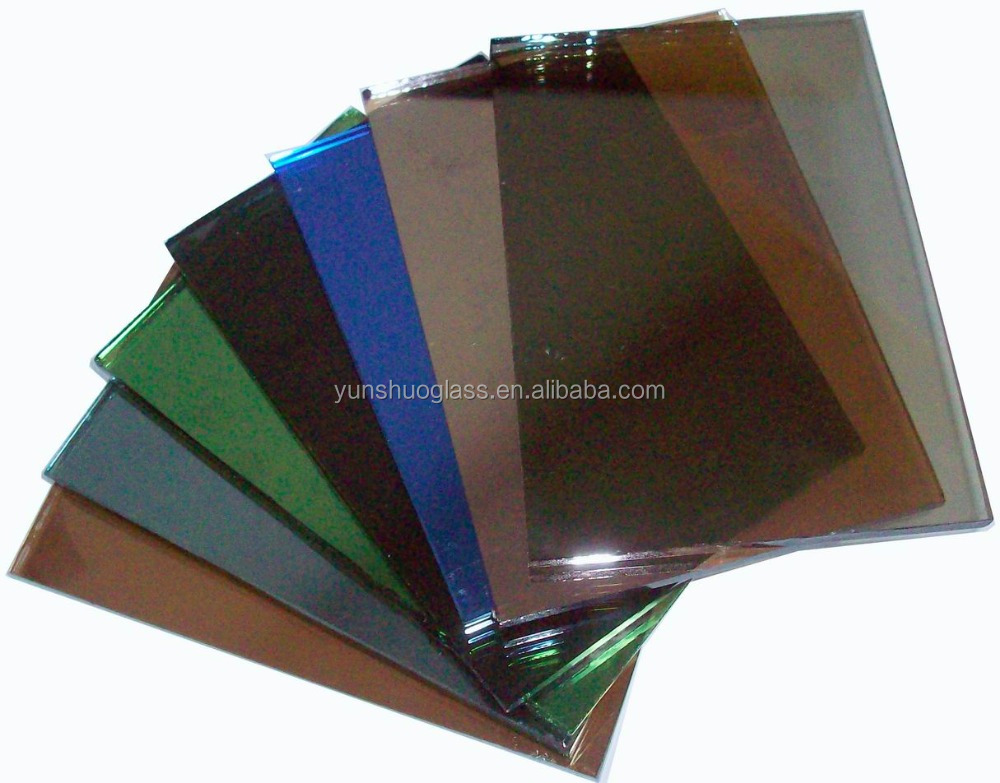Good price China 4mm 5mm 6mm black F-green dark blue grey euro bronze tinted float glass factory