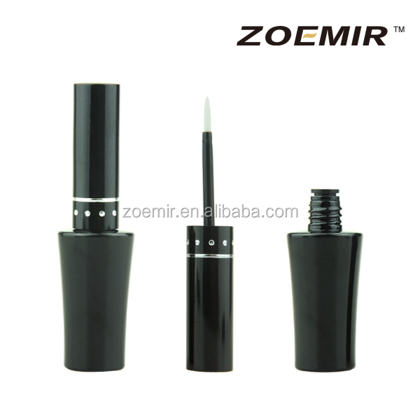 Wholesale vials eyeliner tubes plastic black cosmetic packaging