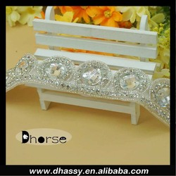 2016 new fashion Crystal Rhinestone Trim Diamante Wedding Trim beaded trim for wedding dress