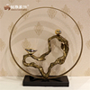 Antique livingroom furniture accessories decoration abstract art statue