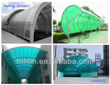 High quality ! garage polycarbonate roofing polycarbonate sheet PC12 4mm 6mm 8mm 10mm pc hollow sheet china manufacturers