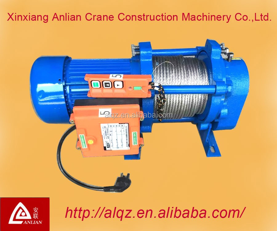 China 's production of high quality mini electric hoist winch