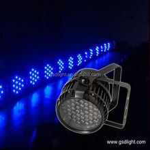 High reputation dj stage lighting dmx led par 54x3W rgbw Zoom Waterproof led par light