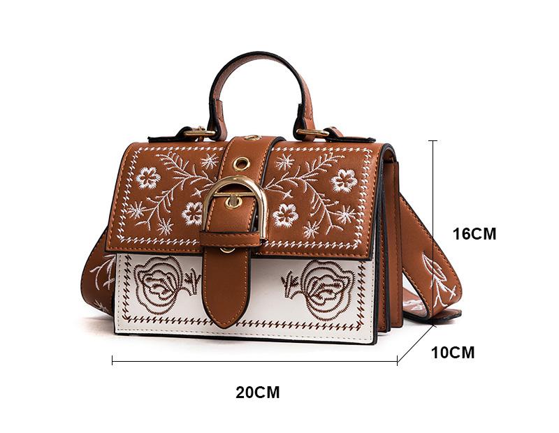 Toposhine Fashion Women Bag Panelled Vintage Flower Girls Bags for Girls Black PU Leather Women Messenger Bags Drop Shipping 1
