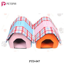 Indoor Cute House Shape Pet Dog Bed Warm Soft Dogs Kennel Pet Sleeping House