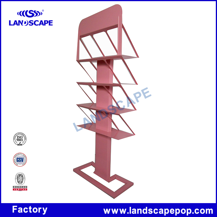 Custom made metal ipad exhibition stand/steel phone display rack/iron phone and ipad diplay shelf