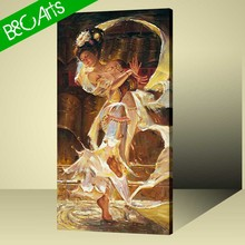 Hot girl beauty picture of beauty sexy woman figure custom canvas printing