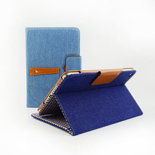 2017 New Arrived Denim Tablet Leather Mobile Flip Case Cover For iPad Pro case