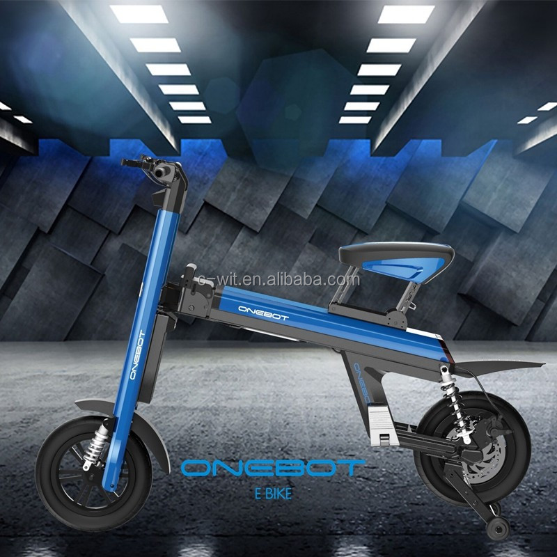 2 wheels electric fast Portable folding bike with pedelec in 250w 36v