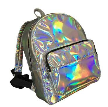 2017 Summer New Arrival Women Silver Hologram Laser Backpack Student's School Backpack Casual Shoulder Bag Silver Travel Mochila