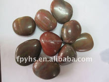 brightly polished pond pebbles