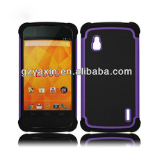 Hottest new products for 2014 combo case for lg nexus 4 E960,case for lg google nexus 4 e960
