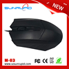 Hot Selling 3D Optical Wired Mouse, cheap price funny computer USB wired mouse
