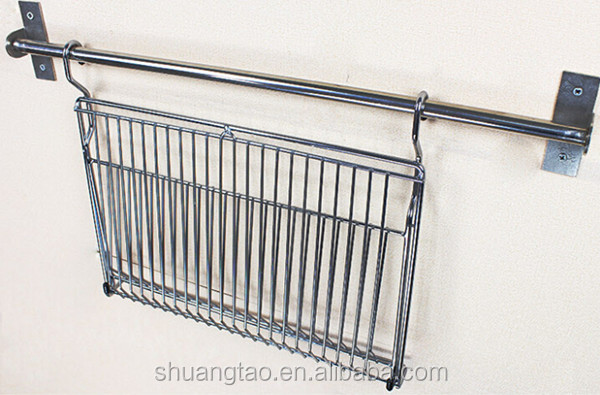 Stainless steel kitchen dish rack metal wire dish rack for Egouttoir mural ikea