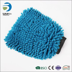 Wholesale microfiber chenille car cleaning gloves wash mitt