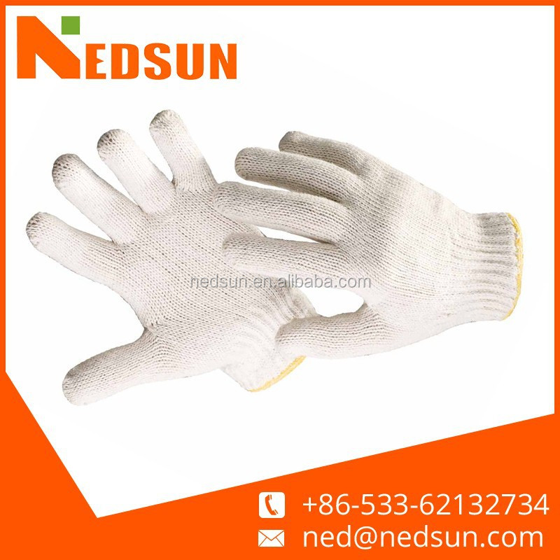 Natural white industrial cotton gloves