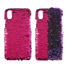 Magical Color Changing Reversible Mermaid Sequins Phone Case For IPhone Samsung