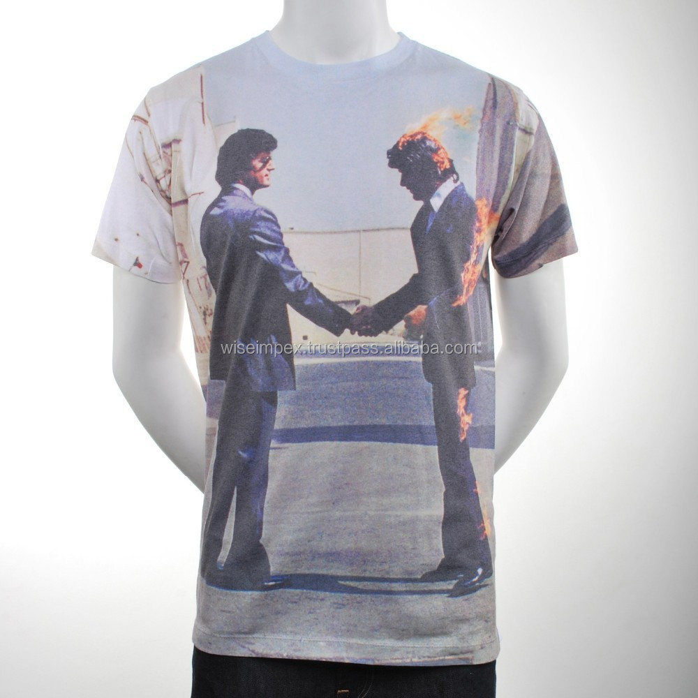 FIlm style full Sublimated Cotton T Shirt , available customization WISE IMPEX