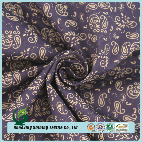 best design woven custom printed fashion cotton shirt fabric