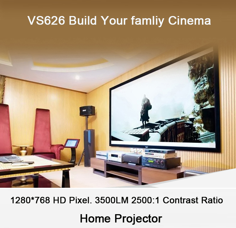 VS626 Cheap projector mobile phone 3d mapping holographic 1920 x 1080 Pixels christmas 1000 lumens mini led projector