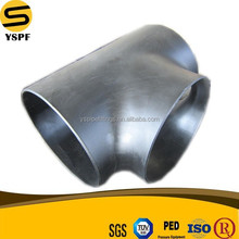 Butt welded BW equal tee 90 degree tee carbon steel pipe fitting ASTM A234 WPB amse ansi B16.9
