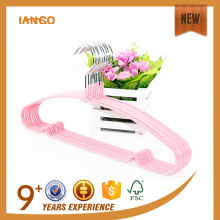 IANGO design wholesale cheap PVC coating metal hanger for clothes drying rack