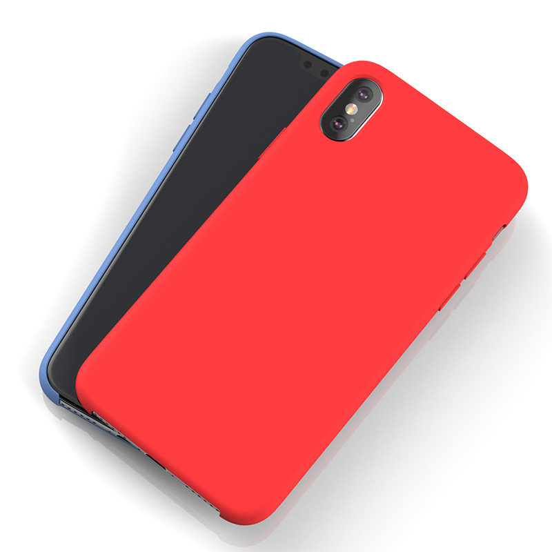 Ultra Thin Slim Liquid Silicon Phone Case Cover for <strong>Iphone</strong> X