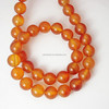 8mm Round Dyed Red Natural Carnelian