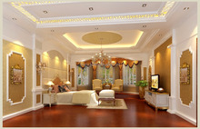 3D Interior Rendering Of Luxurious Master Room Of Private Villa