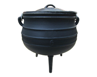 Traditional African Three Legged Pot Outdoor Cauldron Potjie Cast Iron Cooking Pot