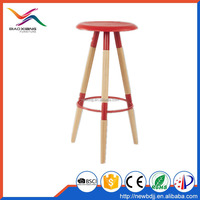 PP home commercial use restaurant bar chair bar stool with wood legs