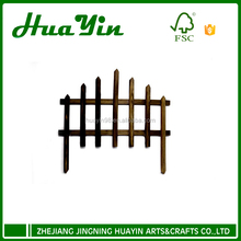 Wooden fence for outdoor