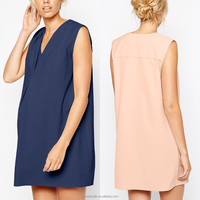 wholesale maternity clothes Loose and Leisure Casual Maternity Crepe Dress V-neck with Origami Detail