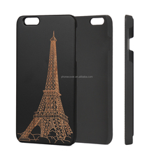 New arrival simple design black wood phone back cover case for iphone6 in many style,Cell phone accessory for iphone5s