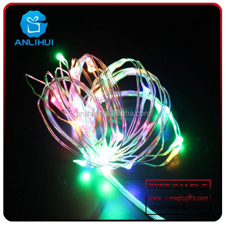 "2015 hot selling Wholesale-39"" 20Leds Pink Submersible Led Tiny Micro Wire String Lights"