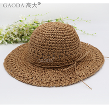 folding female beach hat sun hat for vacation women straw hat