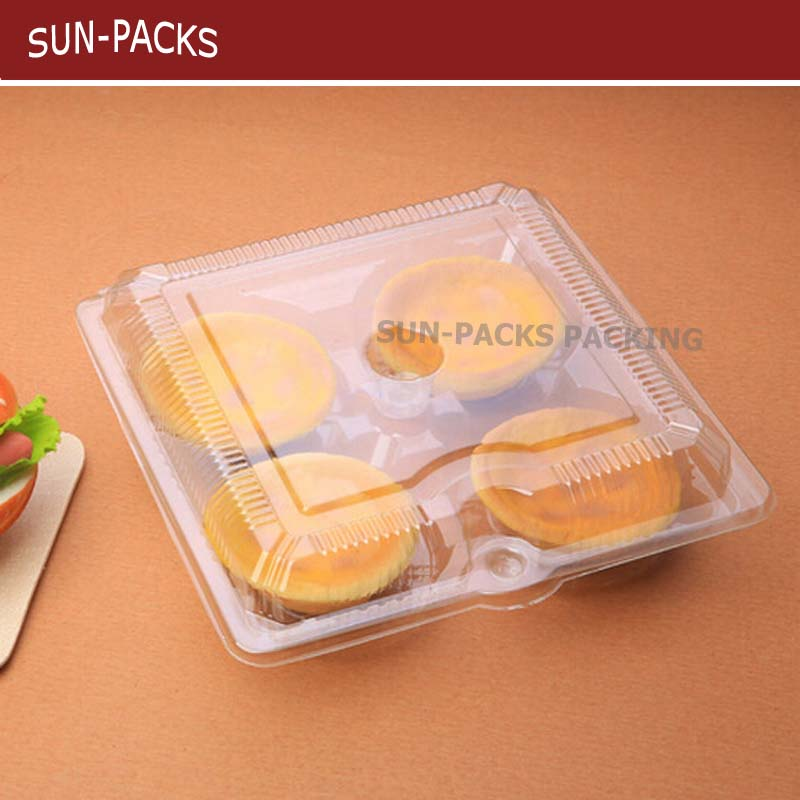 BOPS/PP/PET/PVC Custom clear Blister divider food plastic package top Quality Clamshells Blister Packaging For food egg tart