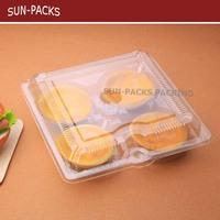 BOPS/PP/PET/PVC Custom clear Blister divider food plastic package top Quality Clamshells Blister Packaging For food egg tart