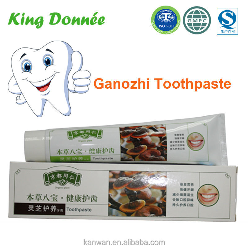 ganozhi toothpaste HongKong famous brand toothpaste fresh breath herbal toothpaste brands
