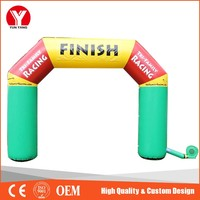 Inflatable finish line arch for race gate
