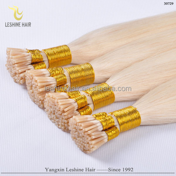 pre bonded fusion hair u tip/flat tip/stick tip hair extension prebonded i tip remy hair