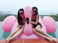 Giant Pink Inflatable Flamingo Water Toys Inflatable Lilo Mattress