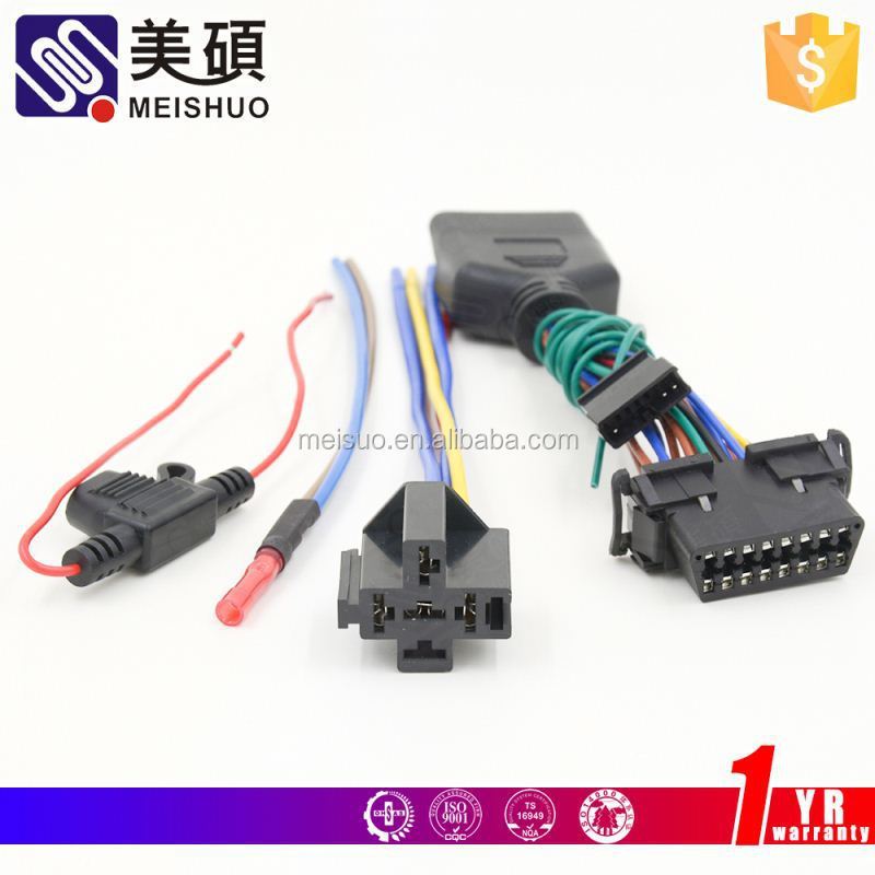 Meishuo lead loom automotive 16 pin sony radio iso wiring harness