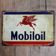 H&D Mobiloil Retro Nameplate Ourdoor Advertising Sign Custome Made